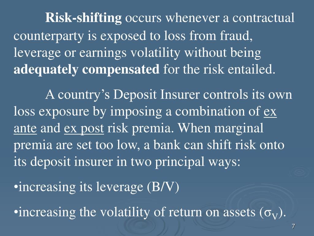 Risk-shifting