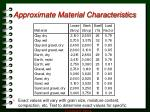 approximate material characteristics