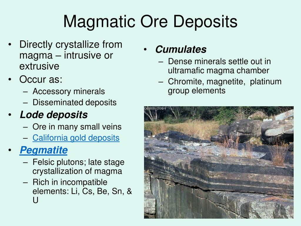 Directly crystallize from magma – intrusive or extrusive
