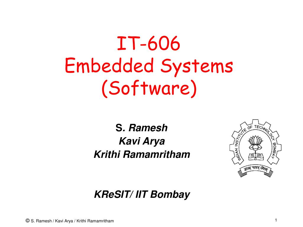 it 606 embedded systems software l.