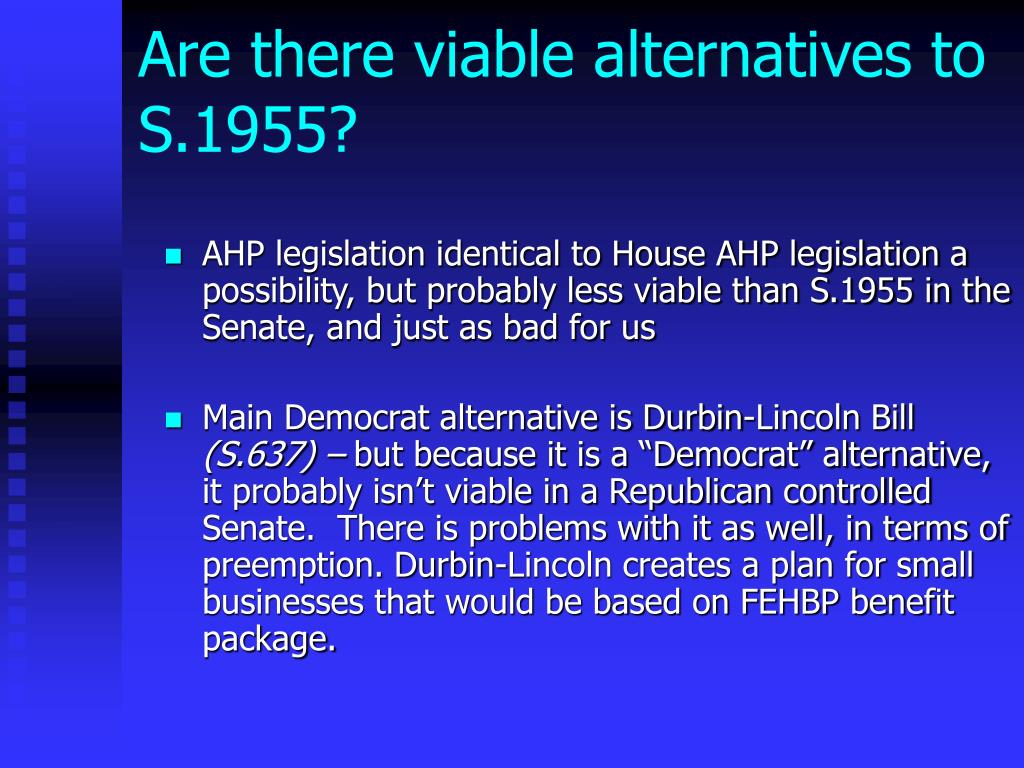 Are there viable alternatives to S.1955?