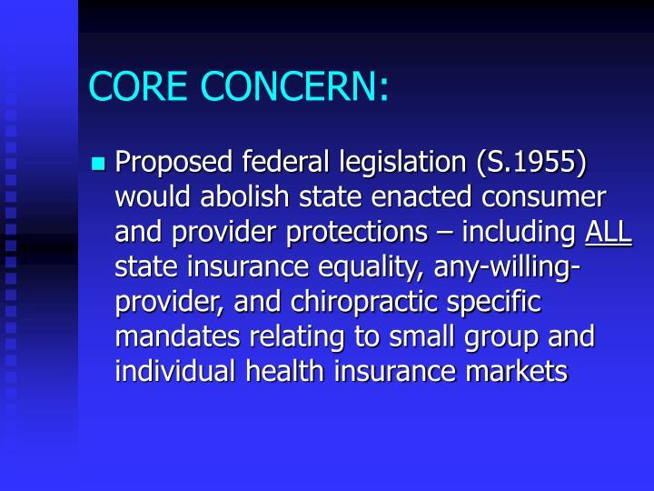 Core concern