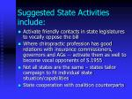 suggested state activities include