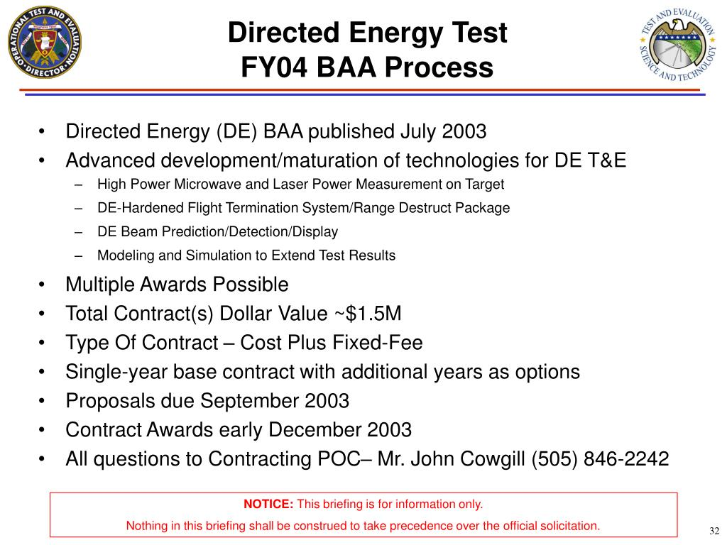 Directed Energy Test