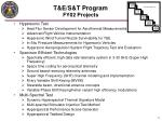 t e s t program fy02 projects