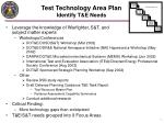 test technology area plan identify t e needs