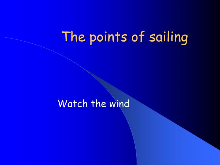the points of sailing n.
