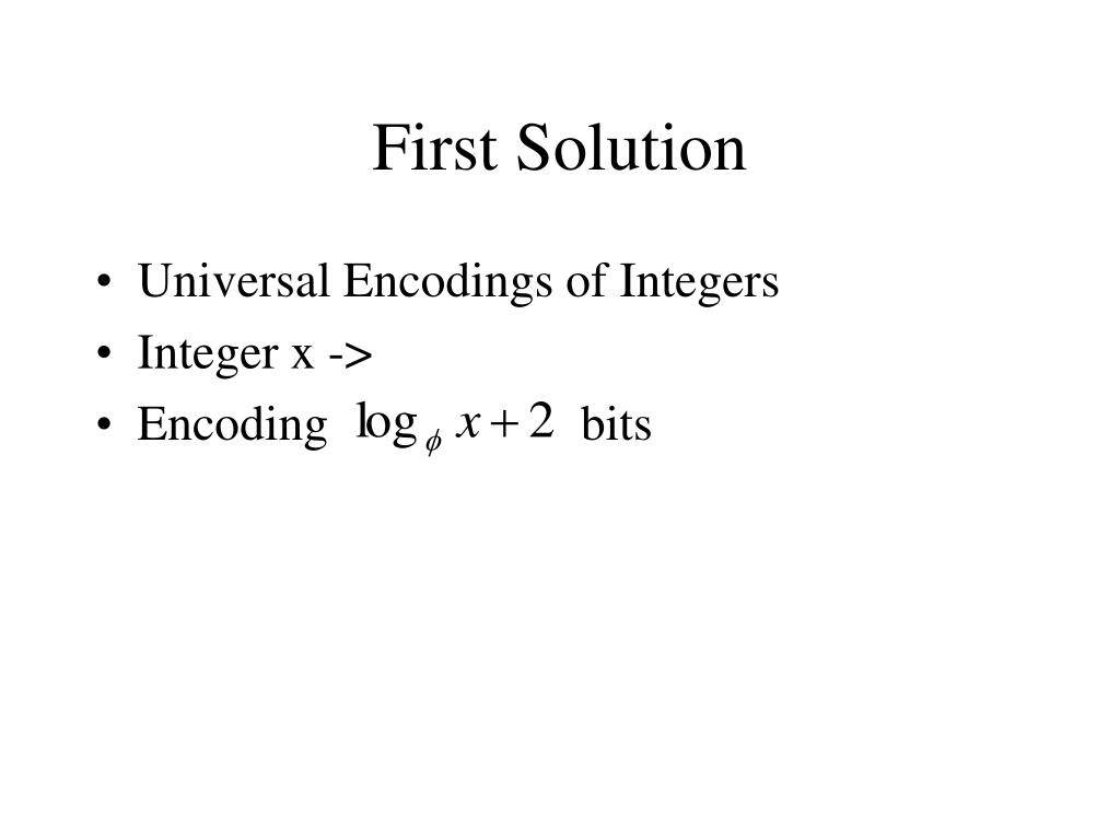 First Solution
