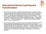 international service learning and transformation22