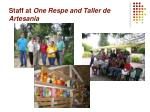 staff at one respe and taller de artesania
