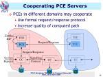 cooperating pce servers