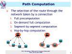 path computation