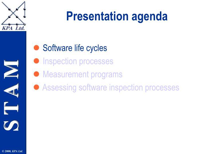 Presentation agenda3