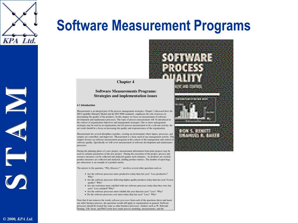 Software Measurement Programs