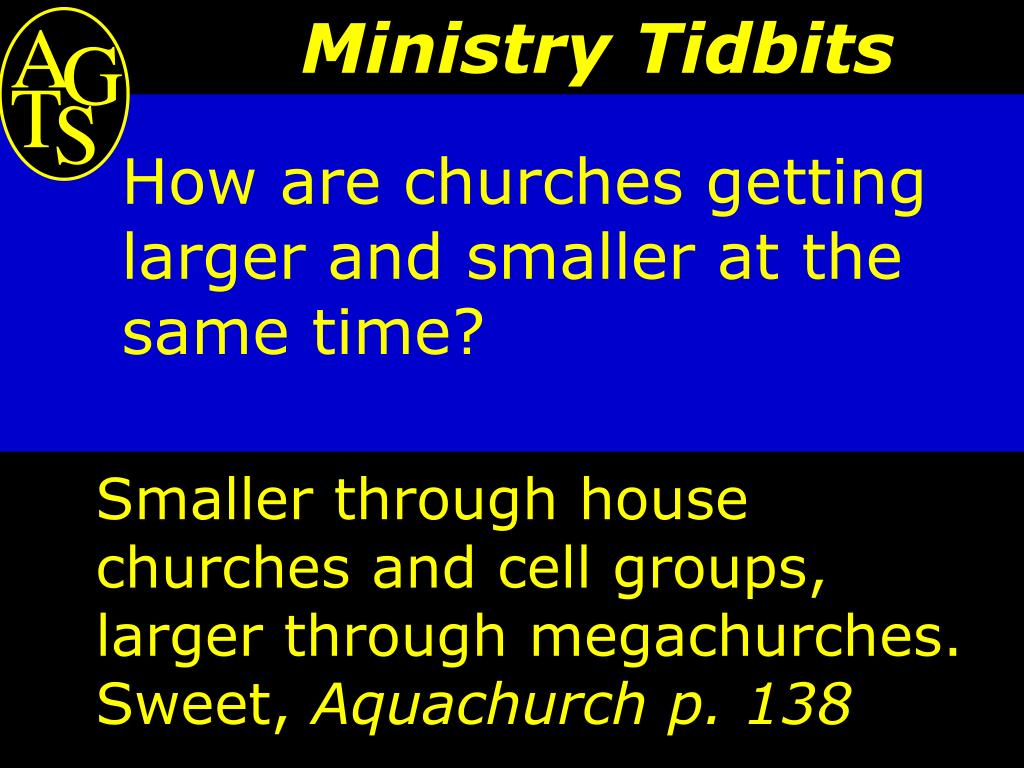 How are churches getting larger and smaller at the same time?