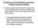 predictions of the education as human capital investment model55