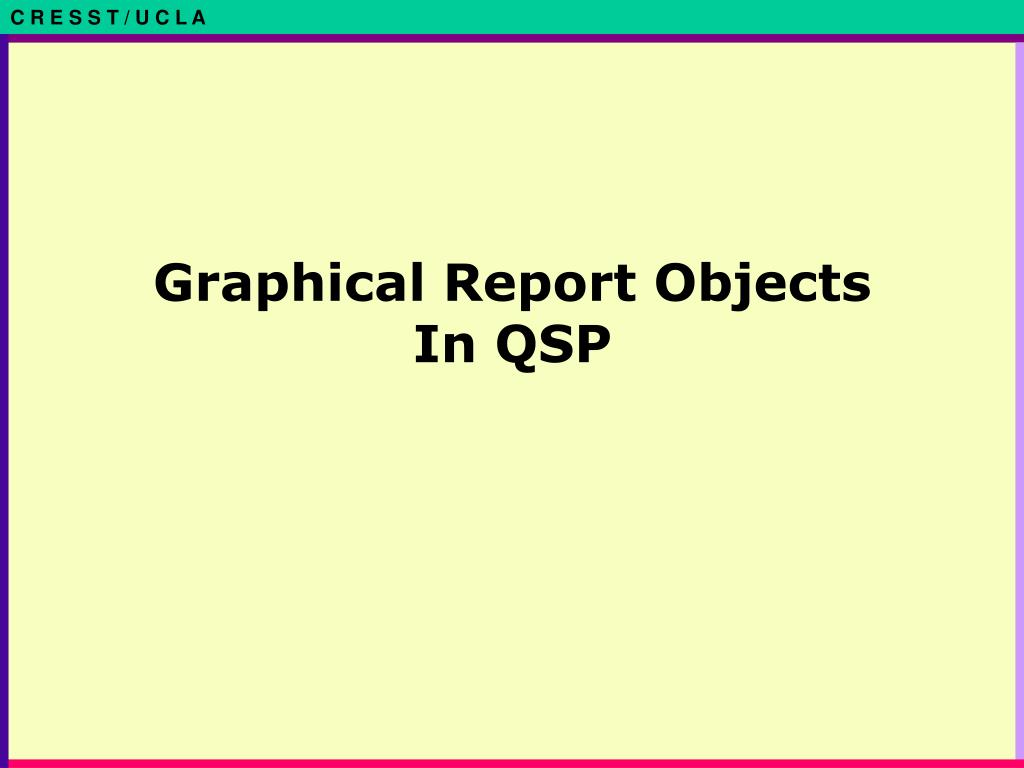 Graphical Report Objects In QSP
