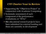 ctf charter year in review