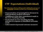 ctf expectations individual
