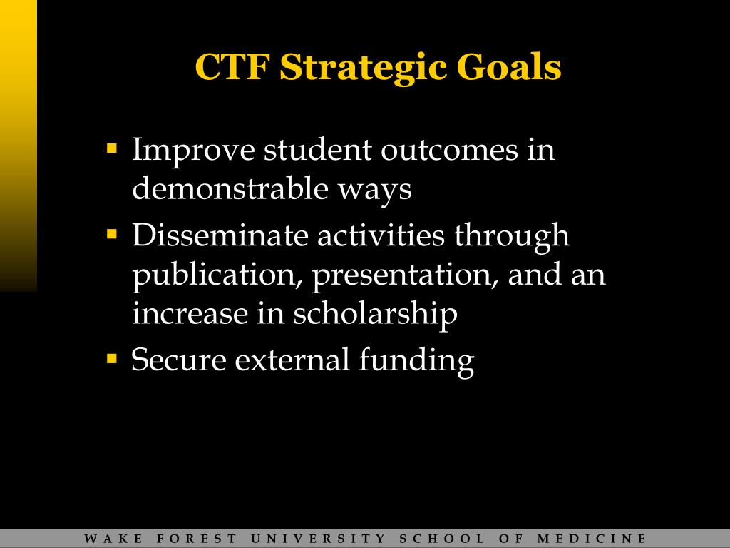 CTF Strategic Goals