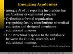 emerging academies