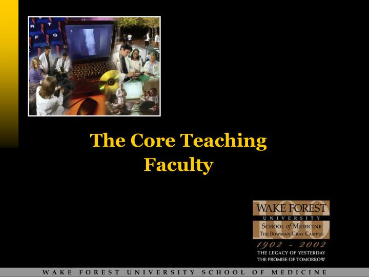 The core teaching faculty