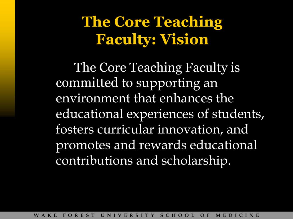 The Core Teaching