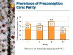 prevalence of preconception care parity