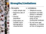 strengths limitations