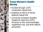 texas women s health survey