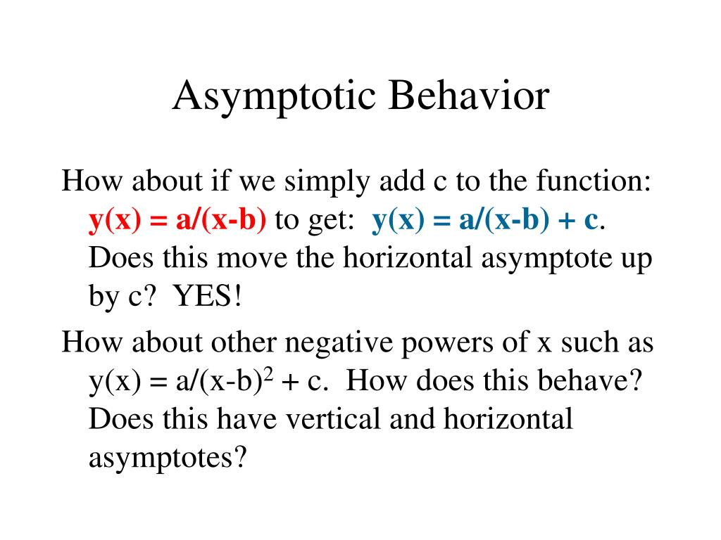 Asymptotic Behavior