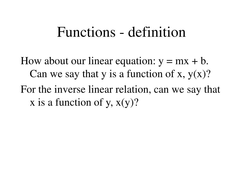 Functions - definition