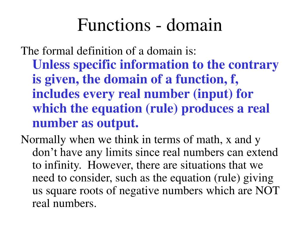 Functions - domain