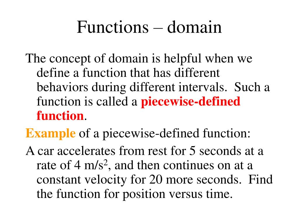 Functions – domain