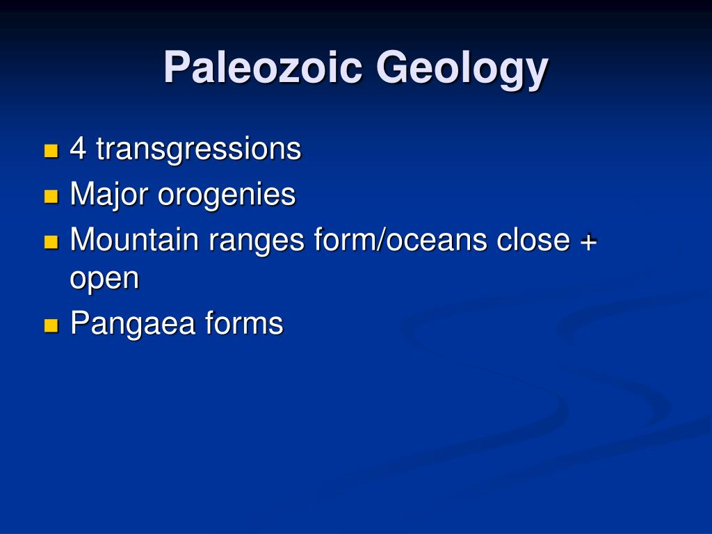 Paleozoic Geology