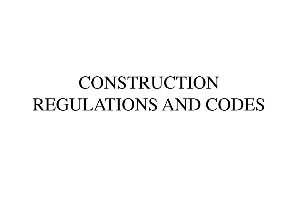 construction regulations and codes l.