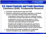 u s export controls and trade sanctions commerce ear fundamental research