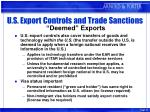 u s export controls and trade sanctions deemed exports