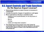 u s export controls and trade sanctions do we need an export license