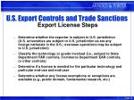 u s export controls and trade sanctions export license steps