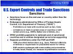 u s export controls and trade sanctions sanctions