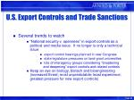 u s export controls and trade sanctions26