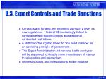 u s export controls and trade sanctions27