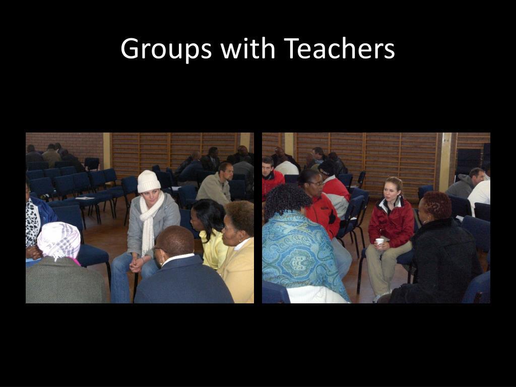 Groups with Teachers