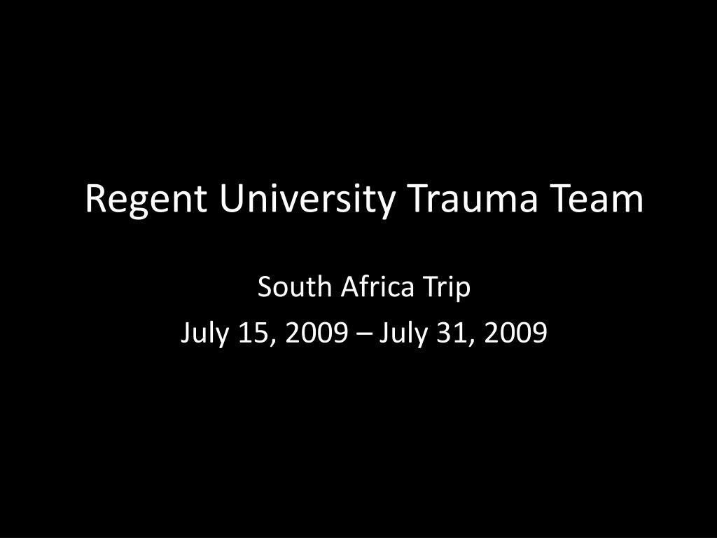 regent university trauma team l.