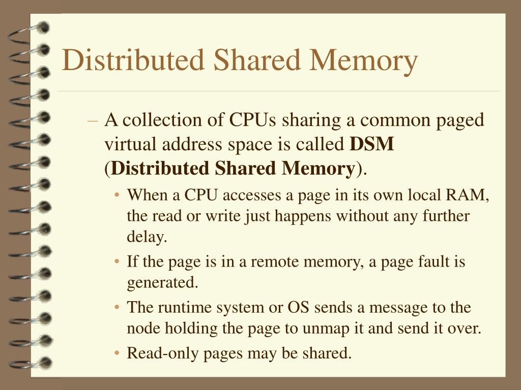 Distributed Shared Memory