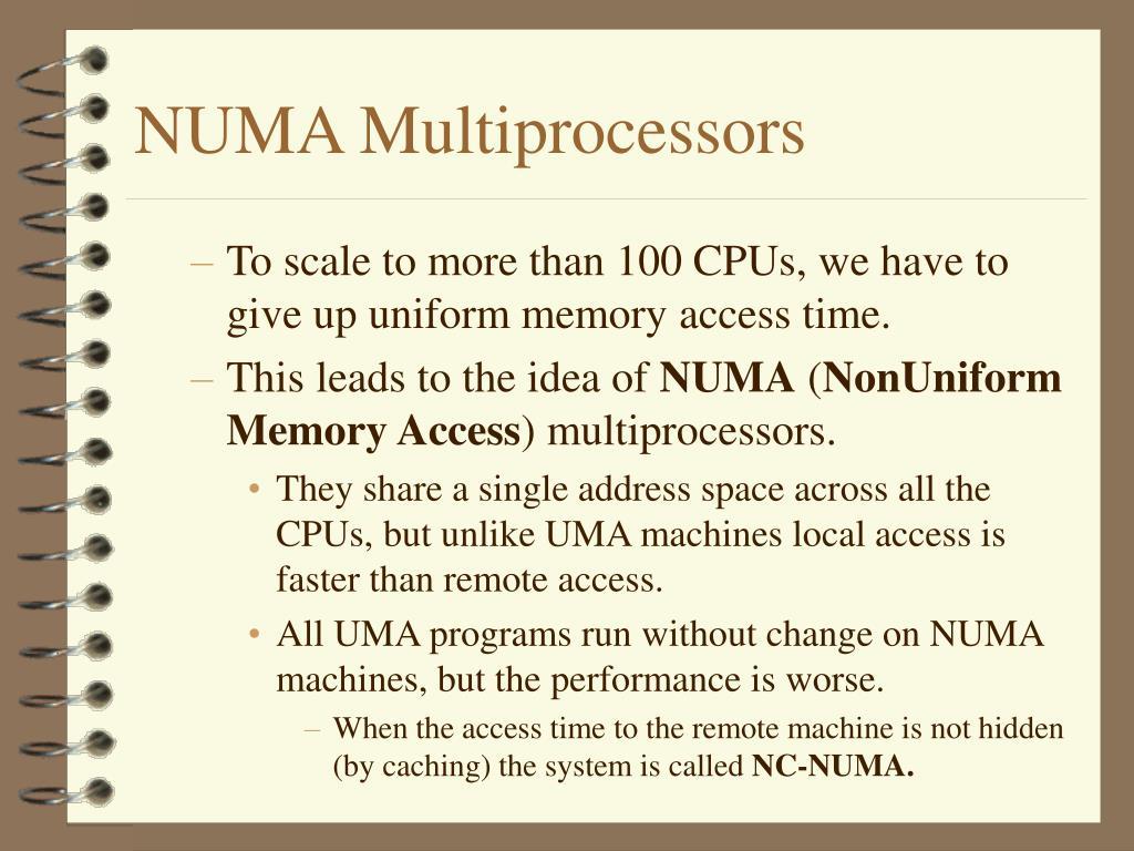 NUMA Multiprocessors