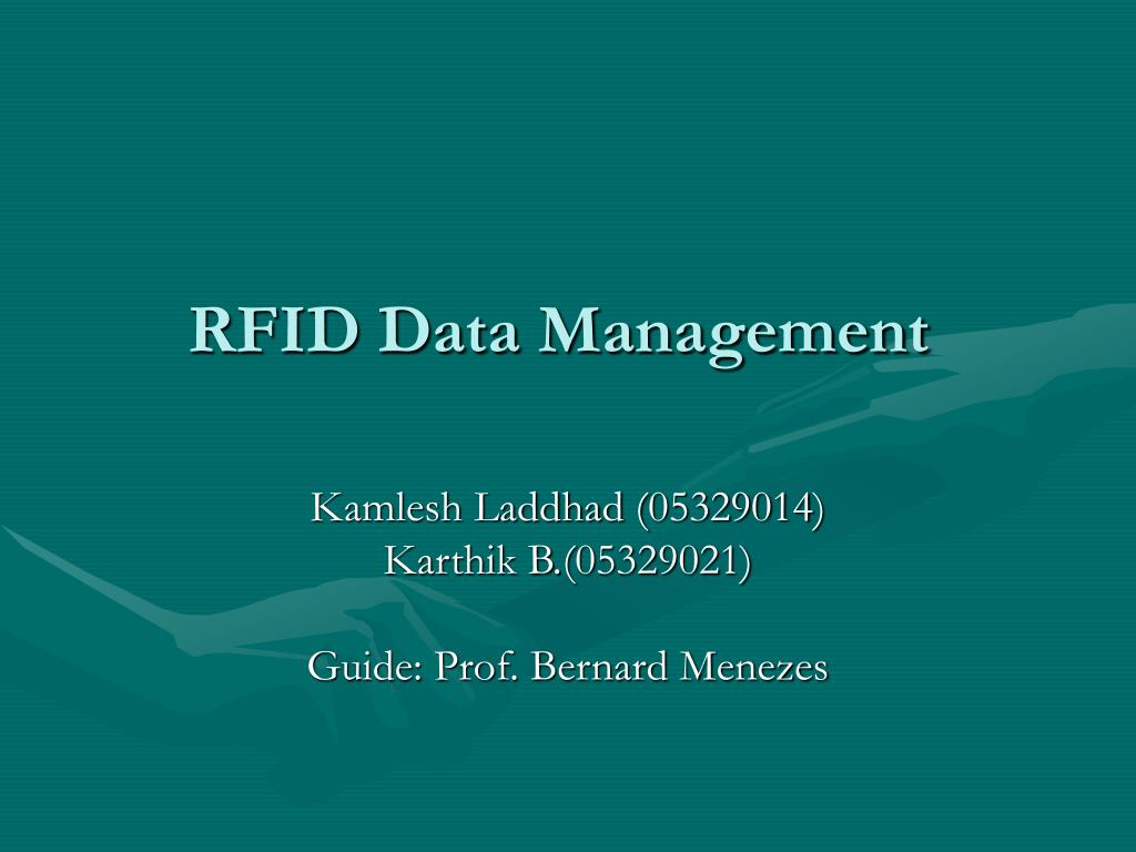 rfid data management l.