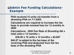 admin fee funding calculations example36