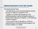 administrative fee set aside39